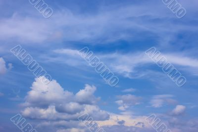 Easy white clouds