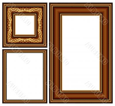 vintage baguette frames