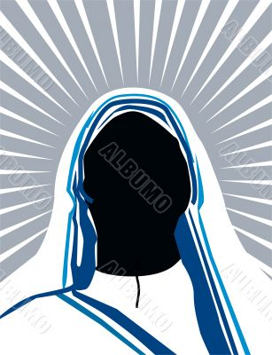 Illustration of silhouette of a nun