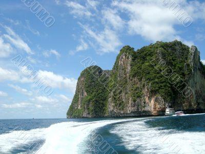 Green island in Thailand