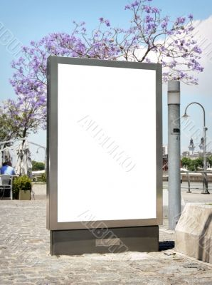 Outdoor blank billboard
