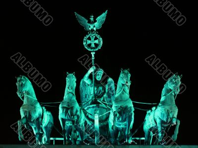 Berlin - Quadriga from Brandenburger Tor by Night