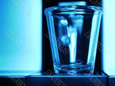Cup Transparent Blue
