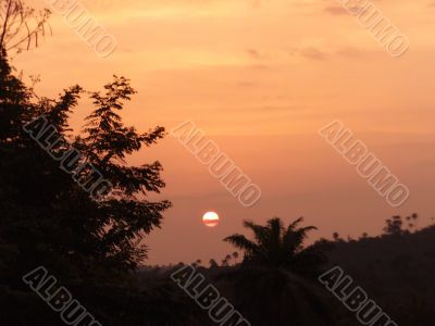 Sunset in Tropical Areas -1