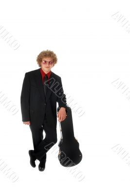 Guitar Player leaning on case