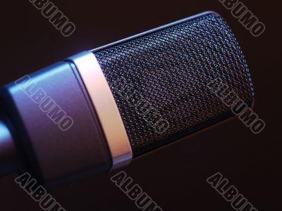 Microphone with dark background