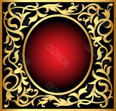 winding gold  pattern frame