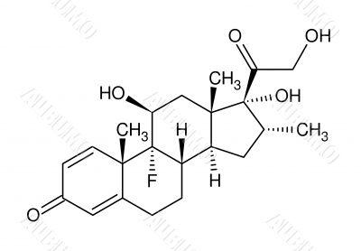Structural formula of dexamethasone