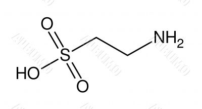 Structural formula of taurine