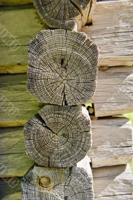 Wood house timber set