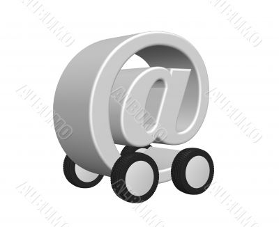 email on wheels