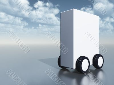 white box on wheels