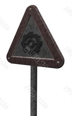 gear wheel roadsign