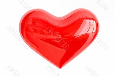 3d glass heart