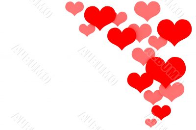 hearts isolated on white background
