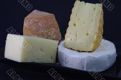 Delicacies. Hard and soft cheese varieties