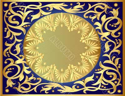 illustration background with gold