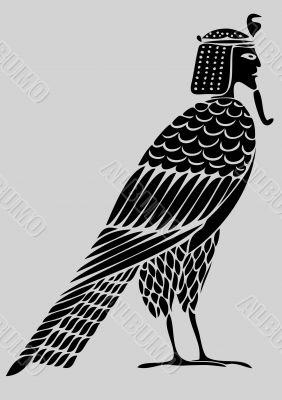 Egyptian demon - bird of souls - vector
