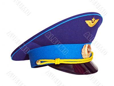 Russian military pilot`s cap