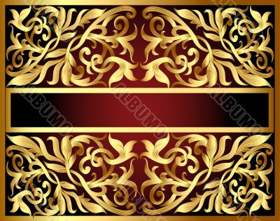 background with gold pattern and revenge for text
