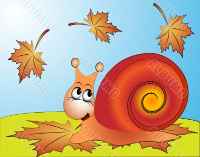 amusing snail on ed sheet by autumn