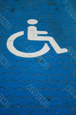 Parkingspace for disabled