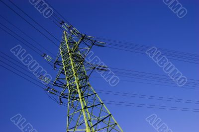 High voltage electric line