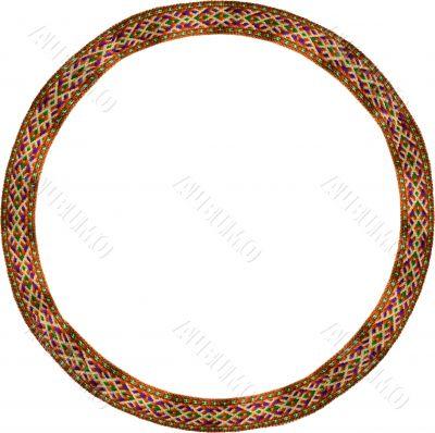 Folk circle frame
