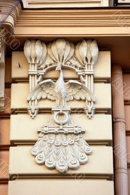 Detail of Art Nouveau or Jugenstil building
