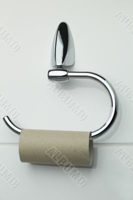 Toilet Roll Holder with empty Roll
