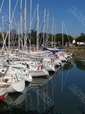 marina of Boyardville on Oleron's island
