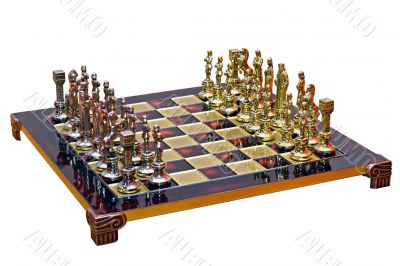 cast iron lacquered chess board