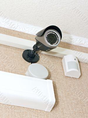 CCTV camera and sensor size on the wall