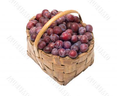 Crop of plums.
