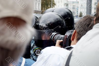 photographer and a special police