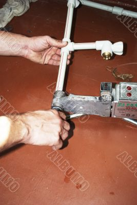 soldering of plastic pipes