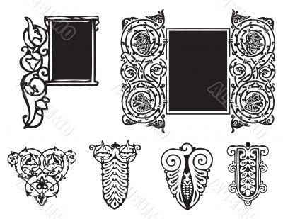 Decorative ornament Gothic style