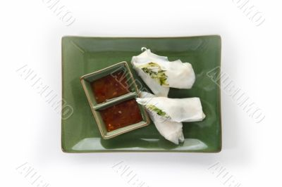 chinese roll with tomato dressing