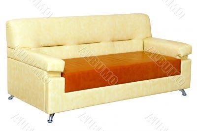 light leather sofa modern design