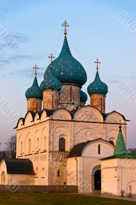 Classic Russian church in historical town