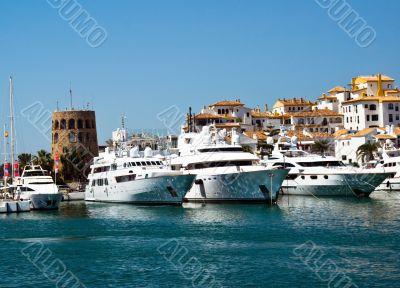 mediterranean luxury port in spain