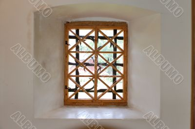 Window in a tower.