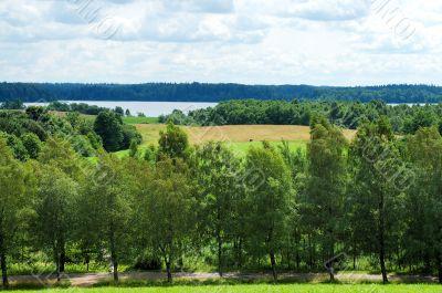 Landscape of Lithuania.