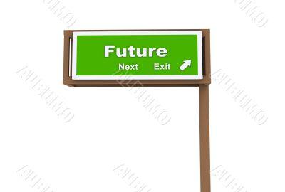 Freeway Road Exit Sign
