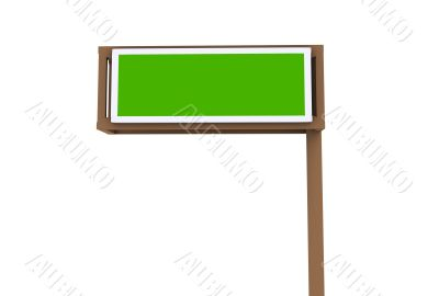 Freeway Road Exit Sign
