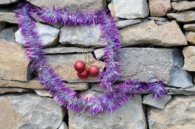 Christmas Decorations on Masonry Construction