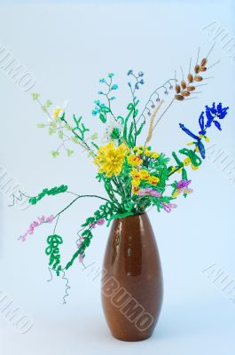 Bouquet of bead flowers