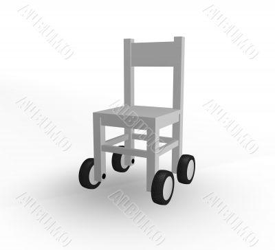 chair on wheels