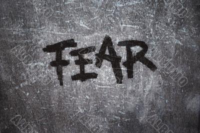 fear on grunge background
