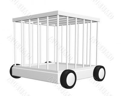 cage on wheels